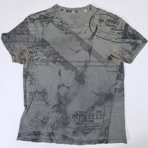 Guess Brown All-over Print Short Sleeve T-shirt